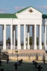 Bender  Republik Moldau  Grabkreuze auf dem Heldenfriedhof