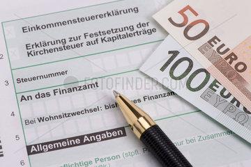 Einkommensteuererklaerung fuer Finanzamt