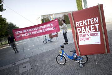 Rentenprotest Initiative Neue Soziale Marktwirtschaft