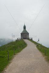 Rottach-Egern  Deutschland  kleine Gipfelkapelle auf dem Wallberg