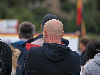 Rechtsradikaler bei Protest in Chemnitz