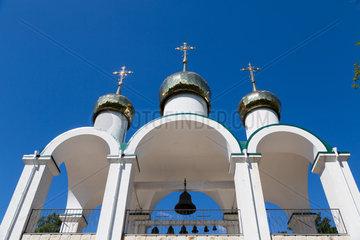 Tiraspol  Republik Moldau  Glockenturm der russisch-orthodoxen Herz-Jesus-Kirche
