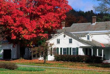 Williamstown  USA  Farbenpracht zum Indian Summer im Berkshire County