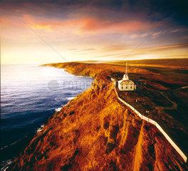 St. Johns  Kanada  der Cape Spear Leuchtturm