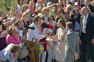 Besuch des schwedischen Kronprinzessinnenpaars  Kronprinzessin Victoria  Prinz Daniel  Muenchen  2011
