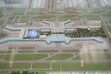 Singapur  Republik Singapur  Modell vom Flughafen Singapur