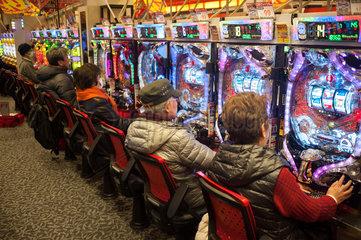 Kyoto  Japan  Pachinko Spielhalle