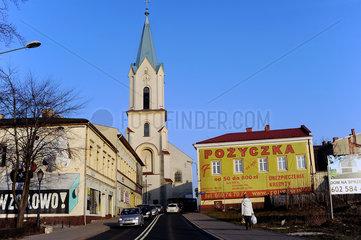 Auschwitz  Polen  Blick auf die Kirche