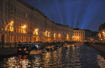 Sankt Petersburg  Russland  Abendstimmung an der Moyka