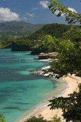 Calliste  Grenada  der Pink Gin Beach