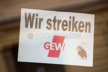 Berlin  Deutschland  GEW im Streik