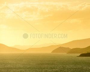 Noumea Coastline Sunset