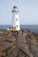 St. John's  Kanada  Besucher am Leuchtturm am Cape Spear
