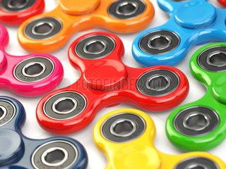 Group of fidget finger spinner stress  anxiety relief toy.