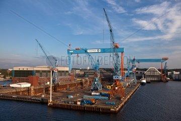 Werft ThyssenKrupp in Kiel