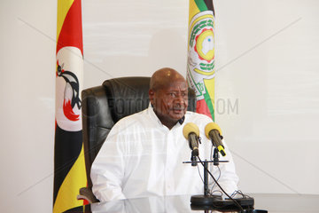 UGANDA-ENTEBBE-INTERVIEW-PRESIDENT