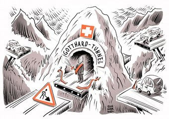Schweizer Gotthard-Tunnel eroeffnet fristgerecht