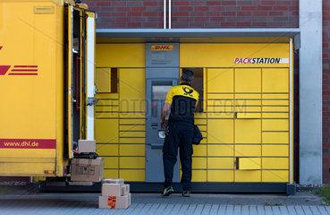 Brandenburg an der Havel  Deutschland  eine DHL Packstation