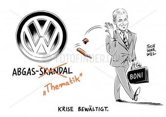 VW-Krisenjahr mit Milliardenverlust : Betriebsrat unterstuetzt Boni-Manoever