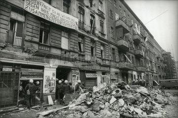 Besetzte Haeuser  Raeumung Mainzer Strasse  1990