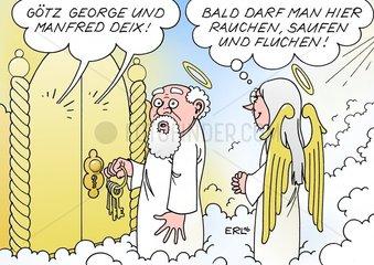 G_tz George Schauspieler Manfred Deix Zeichner