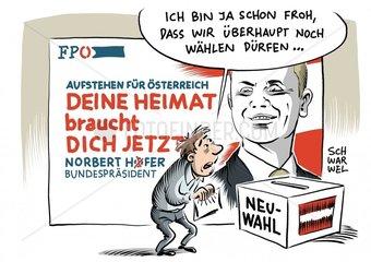 Neuwahlen : Oesterreich muss Bundespraesidentenwahl wiederholen