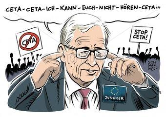 Umstrittener Handelsvertrag mit Kanada : Entsetzen ueber Junckers Ceta-Plan