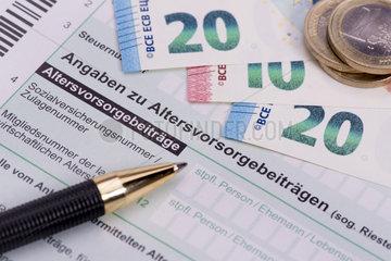 Steuererklaerung fuer Finanzamt