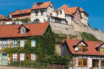Blick auf den Muenzenberg von Quedlinburg