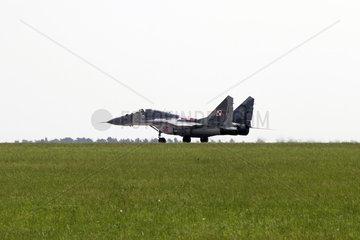 Schoenefeld  Deutschland  Jagdflugzeug MiG-29 der polnischen Luftstreitkraefte