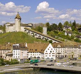 Schaffhausen mit Festung Munot  Schweiz