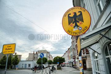 Guben  Deutschland  Stadtschild Guben