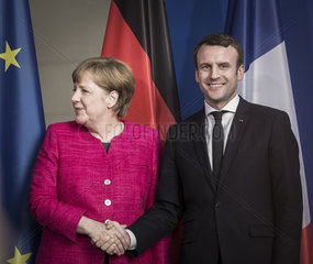 Angela Merkel trifft Emmanuel Macron