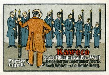 Kaweco Fuellfederhalter  Werbemarke  1913