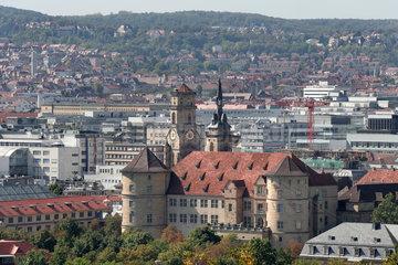 Stuttgart  Deutschland  Altes Schloss und Stiftkirche