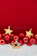 Gelbe Sterne als Weihnachten Dekoration
