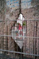 Berlin  Deutschland  Ueberreste der Berliner Mauer