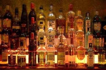Berlin  Deutschland  Spirituosen in einer Berliner Bar
