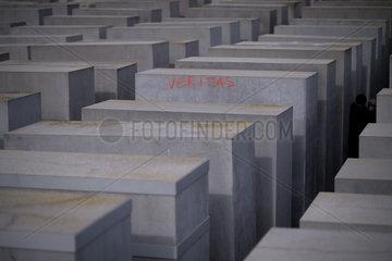 Graffiti  Holocaust Memorial in Berlin