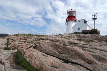Lindesnes  Norwegen  der Lindesnes Leuchtturm