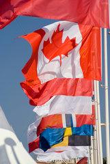 Frankreich  wehende kanadische Nationalflagge