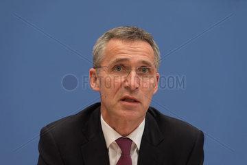 Berlin  Deutschland  Jens Stoltenberg  Ap  NATO-Generalsekretaer