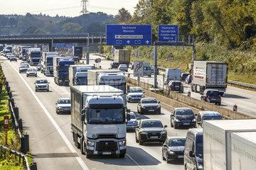 Stau  Autobahnkreuz Lotte/Osnabrueck