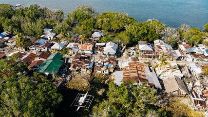 Drohnenaufnahme von Batasan Island