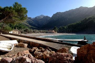 Escorca  Spanien  Strand von Cala Tuent