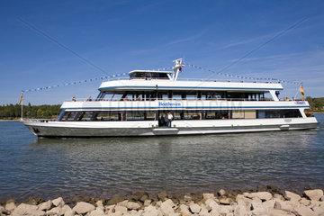 Bonn  Deutschland  Personenschiff Beethoven auf dem Rhein