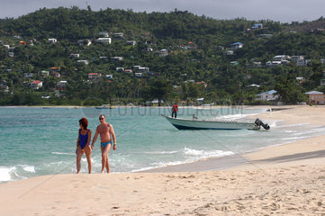 St. Georges  Grenada  der Grand Anse Strand