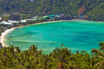 Tropical island Koh Phi Phi Don in Thailand
