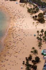 San Andres  Spanien  der Playa de Las Teresitas
