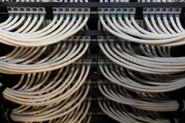 Dubai  Vereinigte Arabische Emirate  MFS-Kabel in einem Rechenzentrum